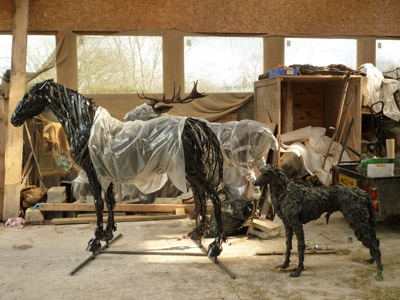 Sally Mattews Horse sculpture