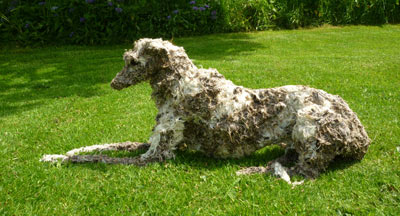 Dog Sculpture by Sally Matthews